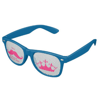 Bridesmaid Pink Mustache Party Shades Sunglasse