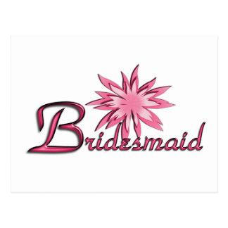 Bridesmaid Pink Postcards
