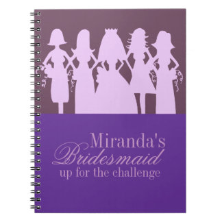 Bridesmaid Planner Spiral Notebook