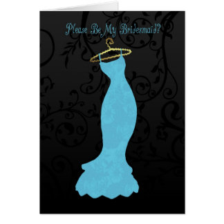 bridesmaid, please be my bridesmaid - blue cards