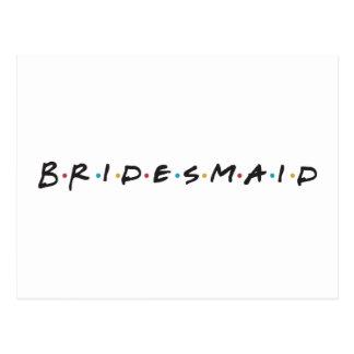 bridesmaid postcard
