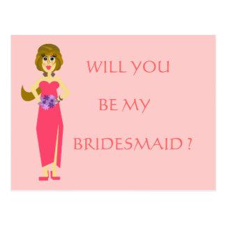 Bridesmaid Postcards