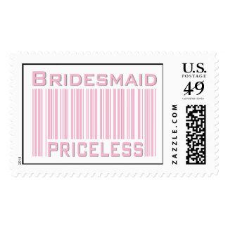 Bridesmaid Priceless Postage Stamp