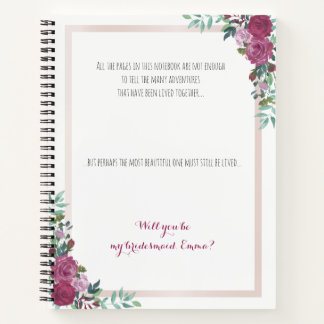 Bridesmaid proposal notebook | alternative idea