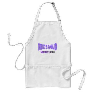 Bridesmaid Purple Adult Apron