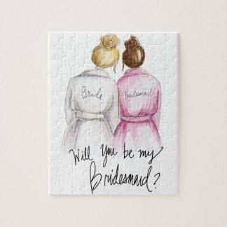 Bridesmaid? Puzzle Bl Bun Bride Auburn Bun Bm
