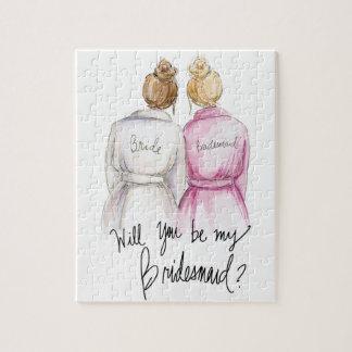 Bridesmaid? Puzzle Dk Bl Bun Bride Bl Bun Bm