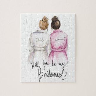 Bridesmaid? Puzzle Dk Bl Bun Bride Dk Br Bun Bm