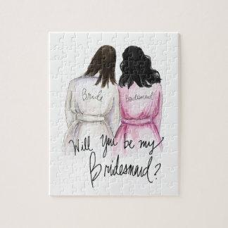 Bridesmaid? Puzzle Dk Br Bride Bk Waves Maid