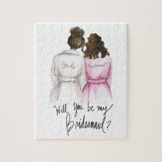 Bridesmaid? Puzzle Dk Br Bun Bride Br Curls Bm