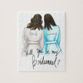 Bridesmaid? Puzzle Dk Br Waves Bride Bk Maid