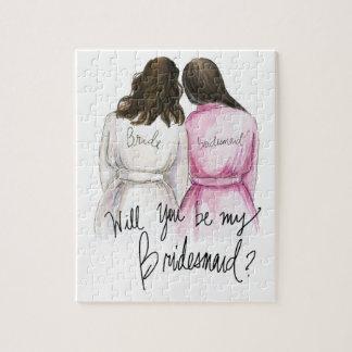 Bridesmaid? Puzzle Dk Br Waves Bride Dk Br Maid