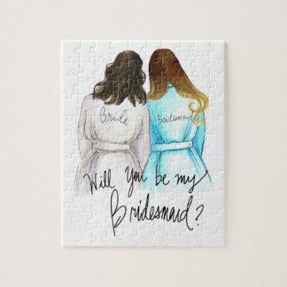 Bridesmaid? Puzzle Dk Br Waves Bride Ombre L Maid