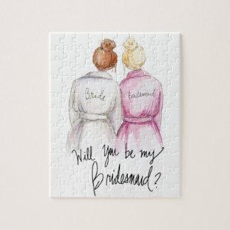 Bridesmaid? Puzzle Red Bun Bride Bl Bun Maid