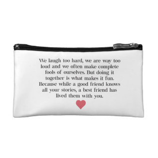 Bridesmaid Quote Clutch Bag at Zazzle