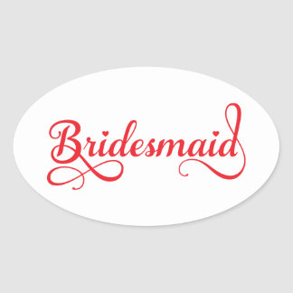 Bridesmaid red word art text design for t-shirt stickers