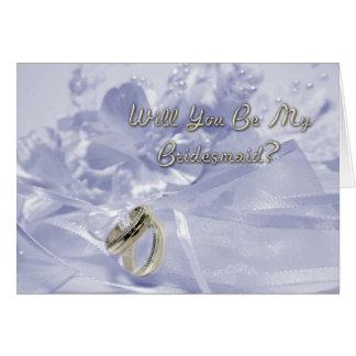 Bridesmaid Request Lavender Cards