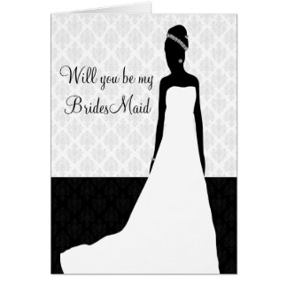 Bridesmaid request stationery note card