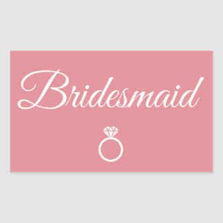 Bridesmaid ring rectangular sticker