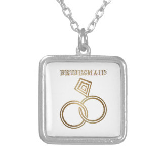 Bridesmaid Romantic Gold Rings Wedding Silver Plated Necklace