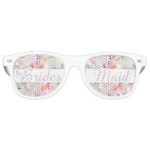 52e62b7f9b Bridesmaid Romantic Pink Watercolor Chic Floral Retro Sunglasses