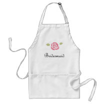 Bridesmaid Rose Adult Apron