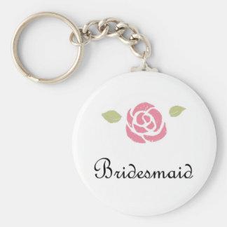 Bridesmaid Rose Keychain