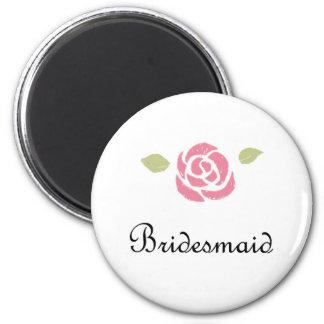 Bridesmaid Rose Magnet