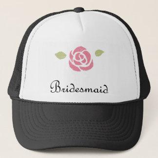 Bridesmaid Rose Trucker Hat