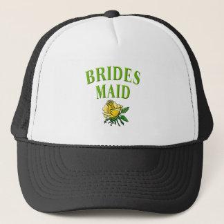 bridesmaid- rose trucker hat