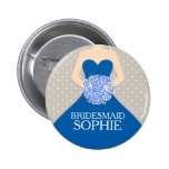 Bridesmaid royal blue dress named wedding pin