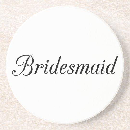 Bridesmaid Sandstone Coaster