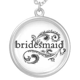 Bridesmaid Silver Plated Necklace