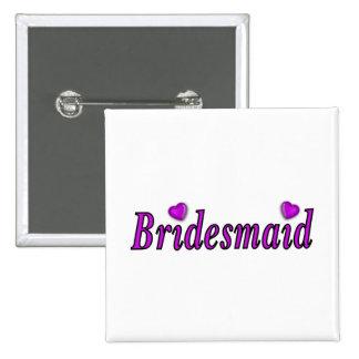 Bridesmaid Simply Love 2 Inch Square Button