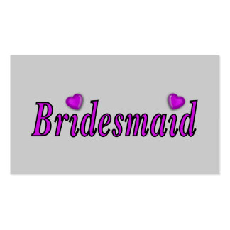 Bridesmaid Simply Love Business Card Template