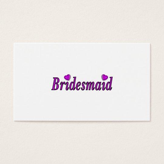 Bridesmaid Simply Love Business Card