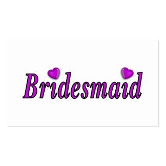 Bridesmaid Simply Love Business Card