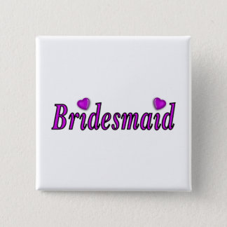 Bridesmaid Simply Love Button