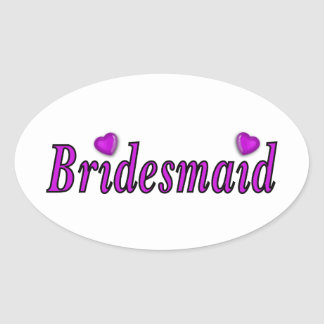 Bridesmaid Simply Love Oval Sticker