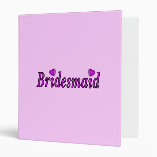 Bridesmaid Simply Love Vinyl Binder