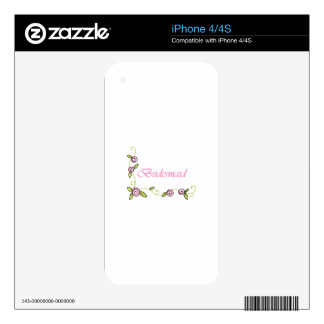 BRIDESMAID DECAL FOR iPhone 4