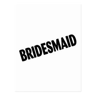 Bridesmaid Slanted Black Postcard