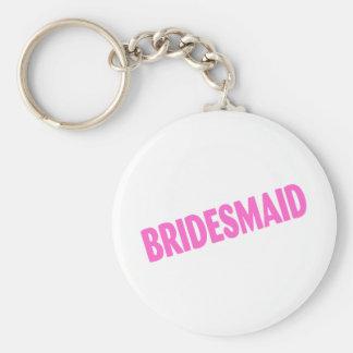 Bridesmaid Slanted Pink Keychain