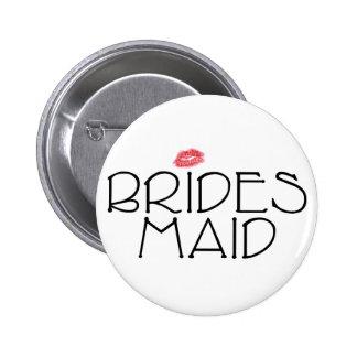 Bridesmaid Smooch Pinback Button