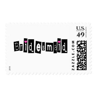 Bridesmaid (Sq Blk) Postage