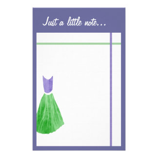 Bridesmaid Stationery  - Green & Periwinkle Purple