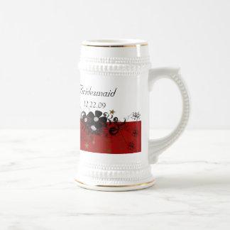 Bridesmaid Stein burgundy Mug