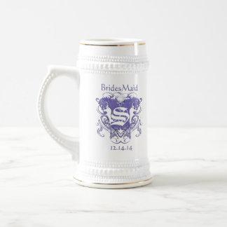 BridesMaid Stein Wedding Vintage Lions 18 Oz Beer Stein