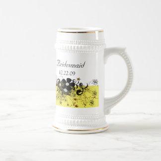 Bridesmaid Stein - Yellow Coffee Mugs