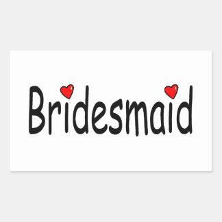 Bridesmaid Rectangular Sticker